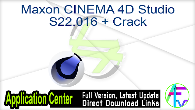 Maxon CINEMA 4D Studio 20.030 + Crack