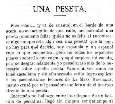 Fragmento del artículo publicado en La Mesa Revuelta
