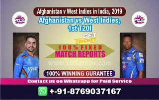 Afghanistan v West Indies in India, 2019 WI vs AFGH 1st T20 Match Prediction Today Reports