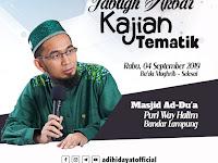 Ustadz Adi Hidayat Dijadwalkan Besok Ada di Bandar Lampung