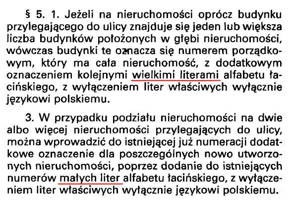Rozporządzenie Ministra Infrastruktury z dnia 28 października 2004 r. w sprawie numeracji porządkowej nieruchomości