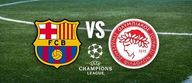 مباراة برشلونة واوليمبياكوس