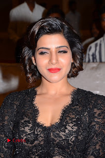 Actress Samantha Pictures in Black Dress at A Aa Success Meet  0001.JPG