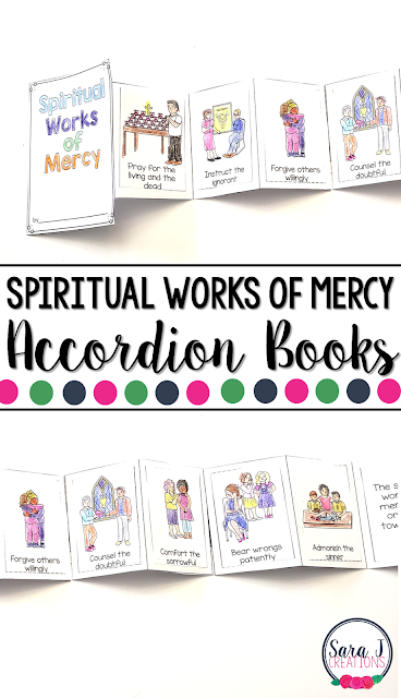 The Spiritual Works of Mercy Mini Books are the perfect activity for teaching kids about Catholic works of mercy for the soul.