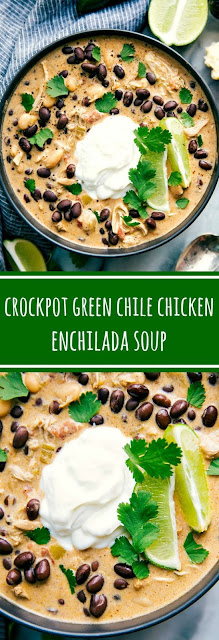 CROCKPOT GREEN CHILE CHICKEN ENCHILADA SOUP