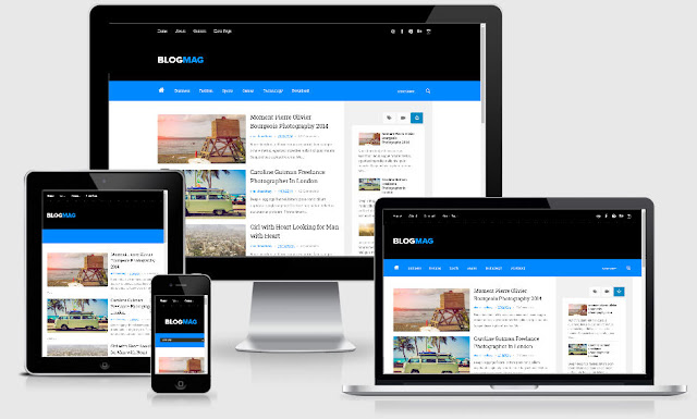 Blogmag Clean and Responsive Blogger Template Premium
