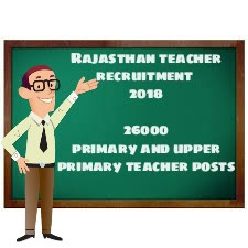 Rajasthan teacher recruitment 2018 for 26000 primary and upper primary teacher post