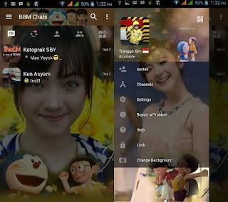 BBM Mod Tema Doraemon Apk 3.1.0.13 Clone