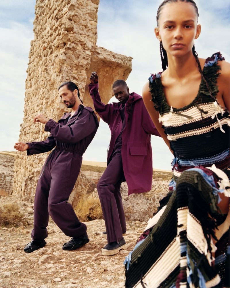 Binx Walton, David Kammenos and Alpha Dia appear in Salvatore Ferragamo spring-summer 2020 campaign