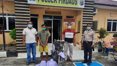 Pencuri Sepmor di Dekat Rest Area Jalan Tol Medan-Tebingtinggi Ditangkap Polisi