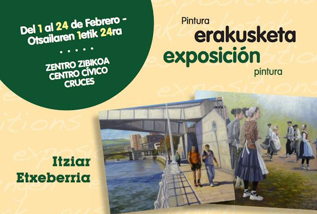 Cartel de la exposición pictórica de Itziar Etxeberria