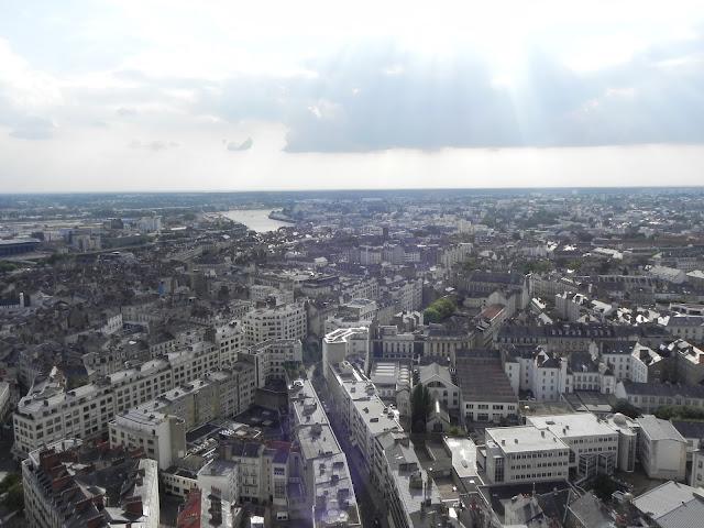 Vista do alto da Torre da Bretanha - Nantes - França