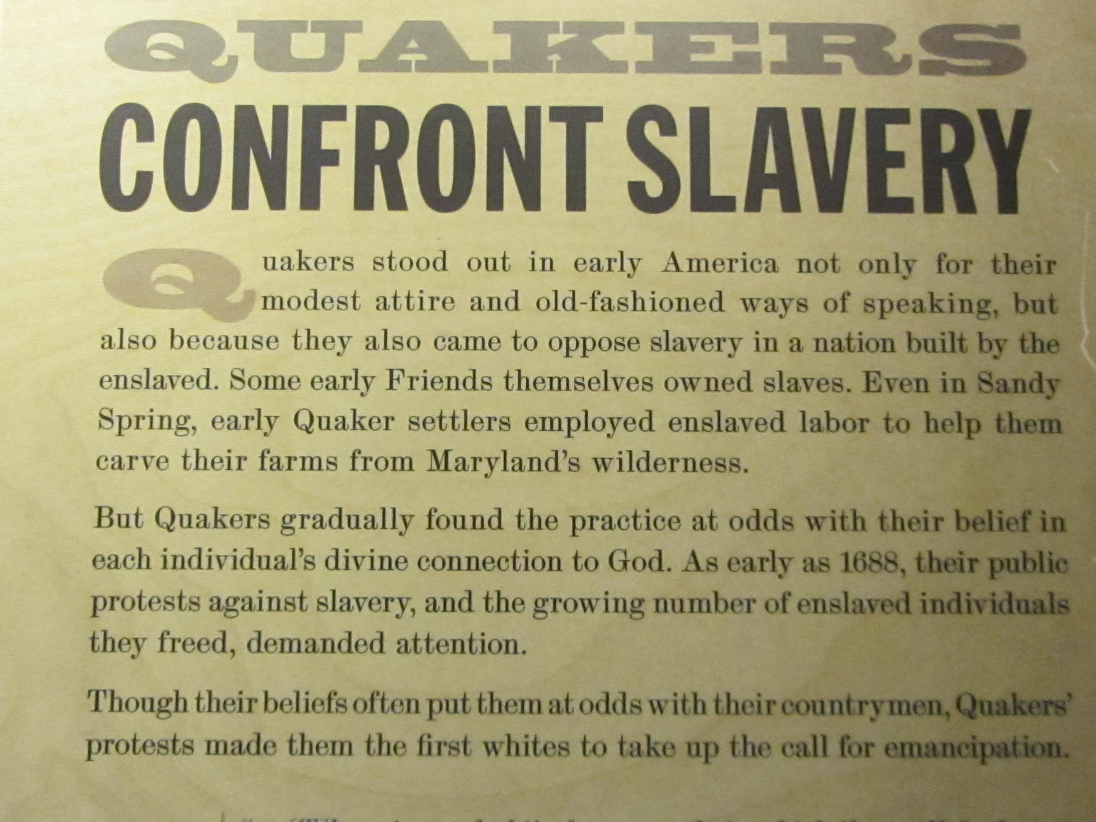 growing opposition to slavery America's growing opposition on slavery and according to william lloyd garrison, through god, we should plant ourselves upon the declaration of independance, and upon the truths of divine revelation (document 2.