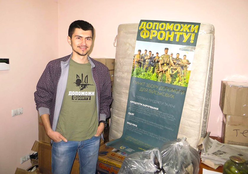 Тарас Матвіїв у часи свого волонтерства