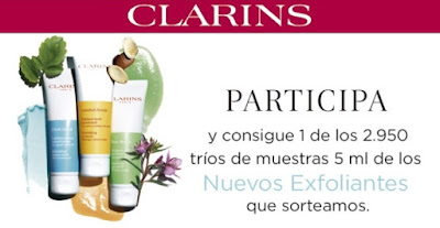 Reparten packs muestras de exfoliantes Clarins