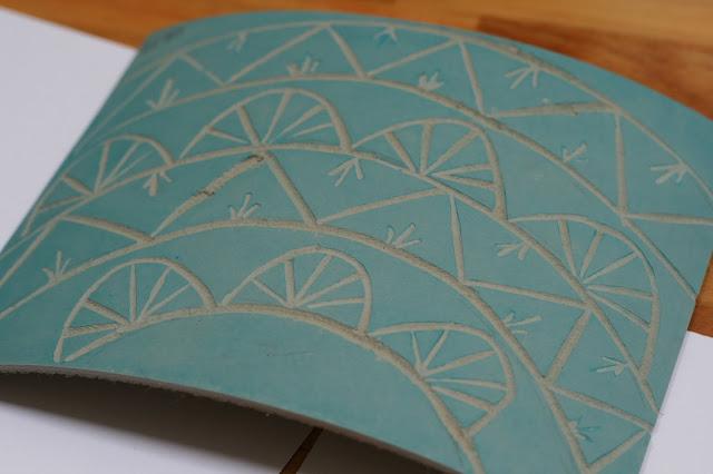 mandala inspired lino cut