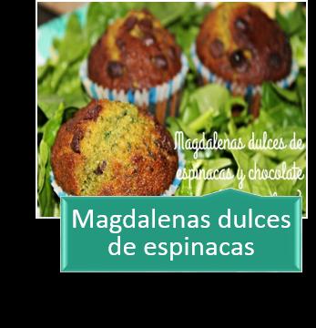 MAGDALENAS DULCES DE ESPINACAS