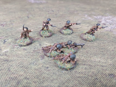 British First World War Lewis Gun section in 15mm