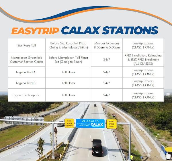 Easytrip CALAX Installation Sites