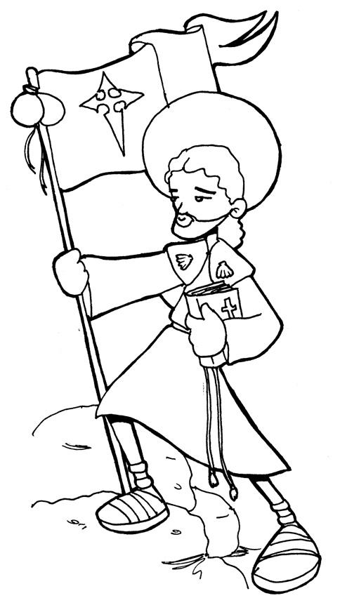 Dibujos para catequesis: APÓSTOL SANTIAGO EL MAYOR