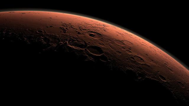 O lugar mais favorável para viver em Marte