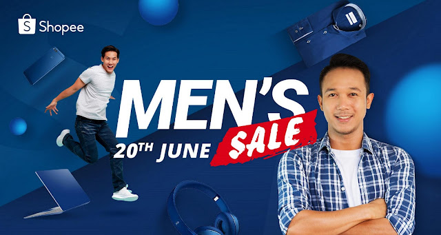 Shopee Men Sale - 13 June 2019 till 23 June 2019