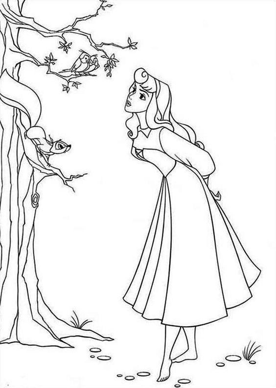 Tranh tô màu nàng công chúa ngủ trong rừng 07