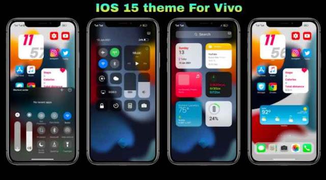 Tema Vivo Itz:  iPhone/ iOS 15 Tema Vivo Tembus Aplikasi