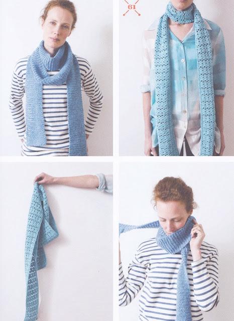 Skinny scarf, sea shells, crochet pattern (photo by Yarn, Scheepjes) | Happy in Red