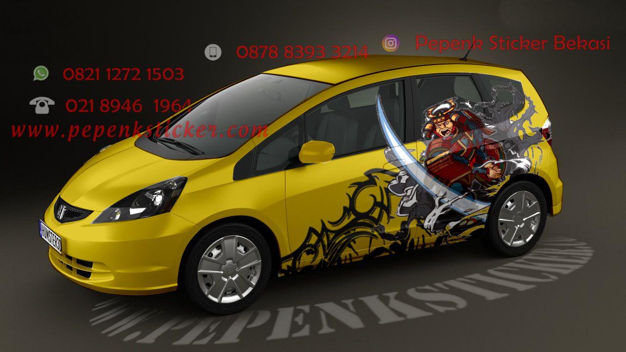 Mobil cutting sticker cutting sticker bekasi digital printing decal wraping jakarta sticker mobil bekasi honda jazz samurai x dragon samurai