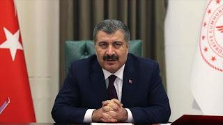 وزير الصحة التركي يعلن عن حصيلة جديدة لوفيات واصابات كورونا