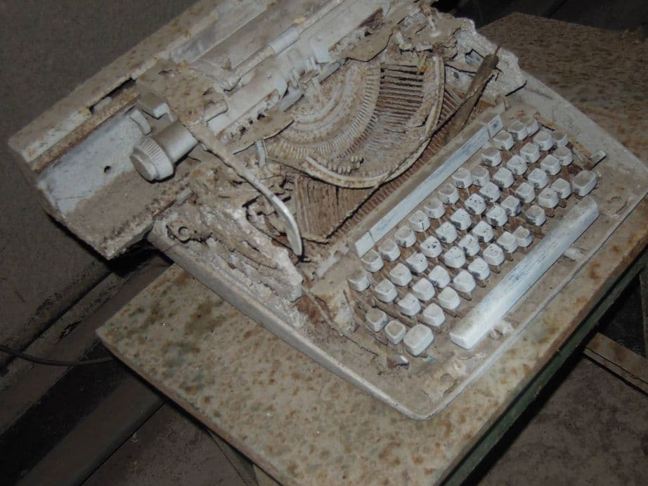 An old typewriter inside Malinta Tunnel at Corregidor Island