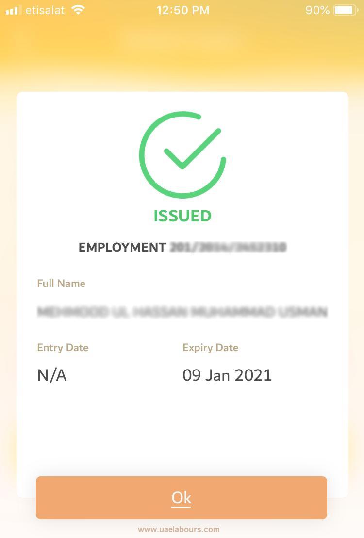 Check Abu Dhabi Visa status online