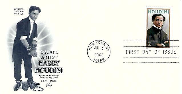2002  37¢ - Harry Houdini - Magician FDC