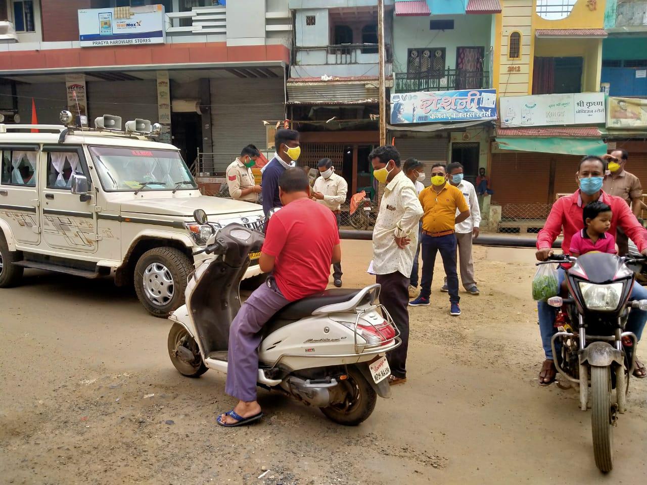 Alirajpur News- बगैर मास्क लगाए 141 लोगों पर चालानी कार्रवाई, 11 हजार वसूले