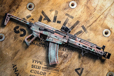 SBR-AK-105-Shorty-Custom-Paintjob-Cerakote-Muzzlebrake