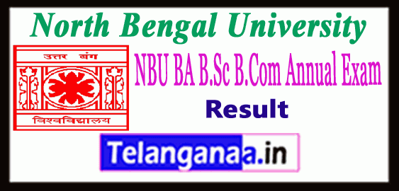 NBU North Bengal University BA/ BSc/ BCom Part 1 2 3 UG Result
