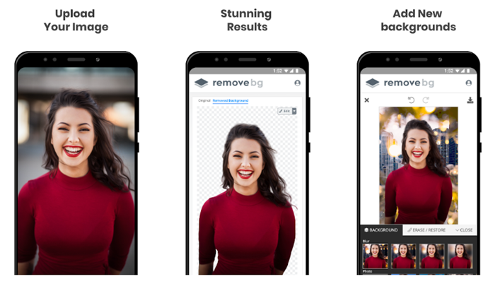Eliminar fondos de una imagen y reemplazarlo en teléfonos Android