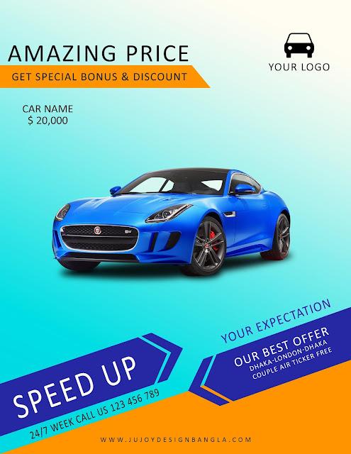 car showroom flyers design