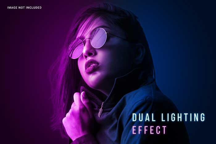 Colorfull Dual Lighting PSD Template