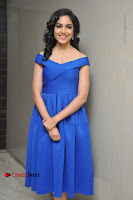 Actress Ritu Varma Pos in Blue Short Dress at Keshava Telugu Movie Audio Launch .COM 0023.jpg