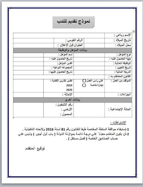 اعلان مصلحة الجمارك عن حاجاتها لندب عدد (100) موظف