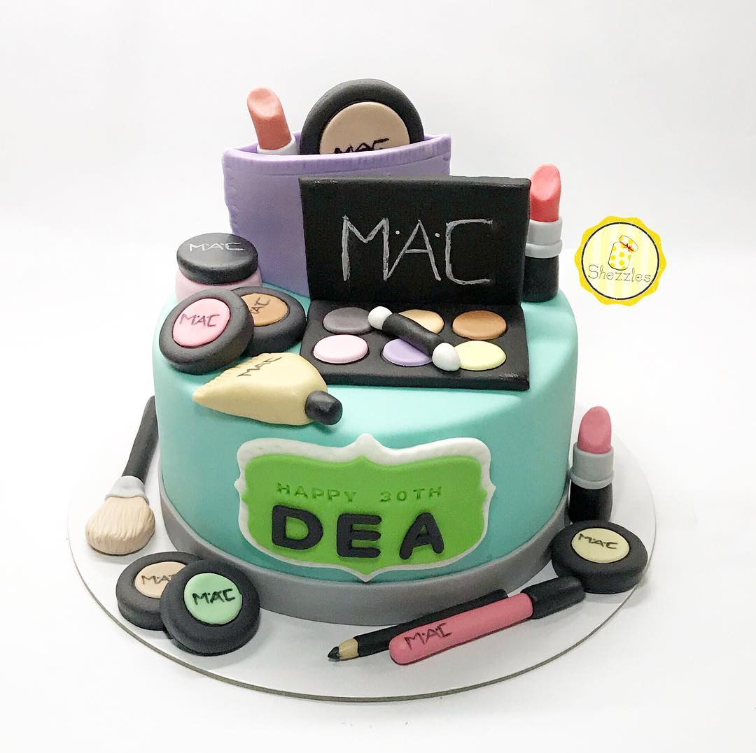 Peachy Shezzles Cakes And Pastries Mac Cosmetics Theme Cake And Cupcakes Personalised Birthday Cards Sponlily Jamesorg