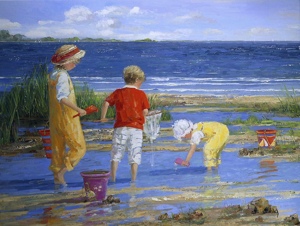 Sally Swatland |Beach Oil Painting #artpeople