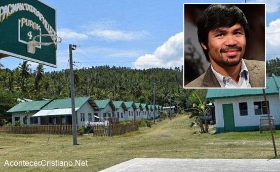 Manny Pacquiao dona viviendas a familias necesitadas