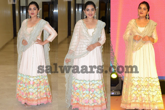 Nivetha Thomas in Floor Length Salwar