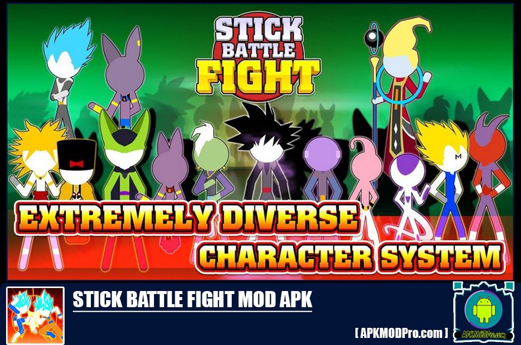 Download Stick Battle Fight Mod apk v1.6 (Unlimited Money & Full Karekter)