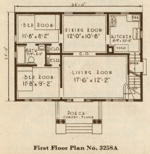 sears crescent floorplan 3258a