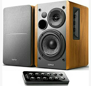 Edifier Wireless Speakers - Wooden Sound Boxes with Remote