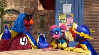 Sesame Street Iron Monster and Sesame Heroes
